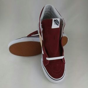 Vans Sk8-Hi Slim Windsor Wine Skate Shoe 7.5 Women